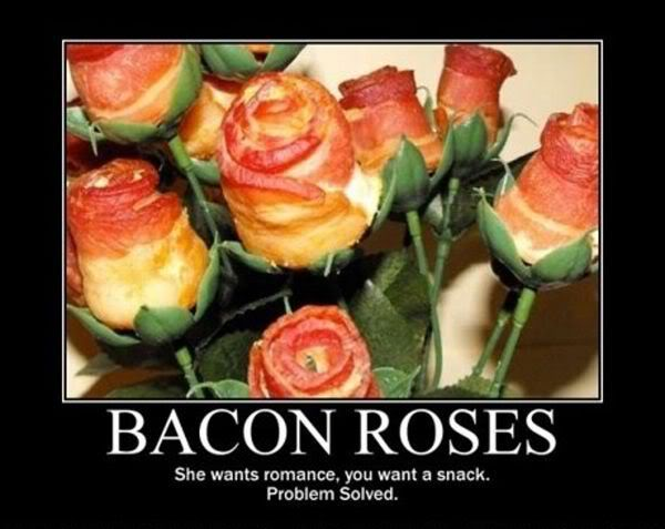 Funny Pictures, Sayings and Cartoons-bacon_roses-jpg