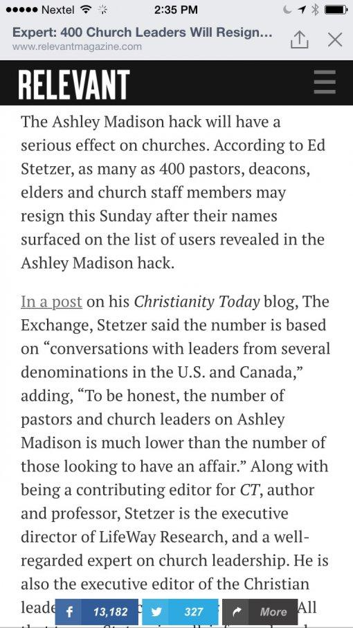 400+ Pastors to resign this Sunday bcz of Ashley Madison site-image-jpg