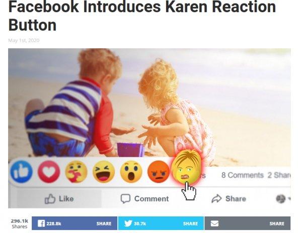 Funny Pictures, Sayings and Cartoons-fireshot-capture-100-facebook-introduces-karen-reaction-button-babylon-bee-babylonbee-jpg
